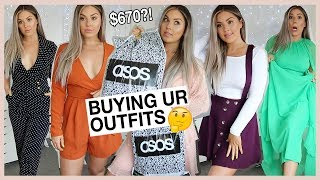 $670 ASOS Try On Haul 💩 BUYING STUFF YOU SENT ME.. help