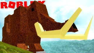 "Dinosaur Simulator (Roblox)-The great mammoth, attacked by carnivores! ""Triceratops""-(#68) (EN-BR)"
