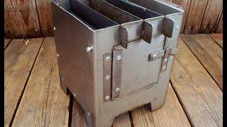 Складная печка щепочница. Сделай сам. / Folding camp stove
