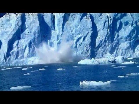 Glacier calving tsunami wave