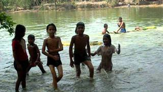 Bangladesh Swimming in a local lake 2010