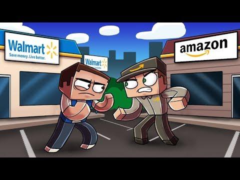 Minecraft   SNEAKING INTO AMAZON HEADQUARTERS! (Walmart vs Amazon)