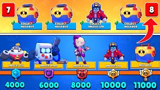 BOX OPENING of the WHOLE TROPHY ROAD! 0 to 11,000 TROPHIES NONSTOP FINALE! Brawl Stars