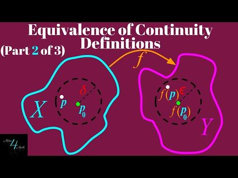 Two Definitions for Continuity?   Part 2 of 3   Epsilon-Delta Definition implies Open Set Definition