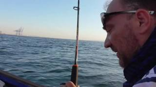 Рыбалка. Черное море, Одесса, 06.07.16(Одесса. Ланжерон. Морская рыбалка на