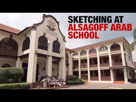 Sketching at Alsagoff Arab School