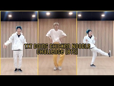 TXT doing Chicken Noodle Soup Challenge (BTS)