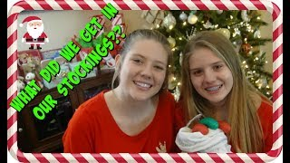 CHRISTMAS EVE 2017    WHAT DID WE GET IN OUR STOCKINGS    Taylor and Vanessa