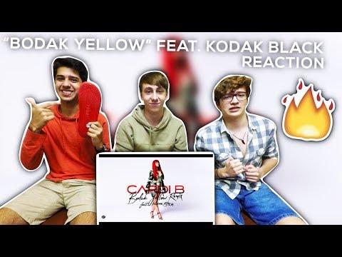Cardi B - Bodak Yellow (feat. Kodak Black) [Remix] REACTION!!
