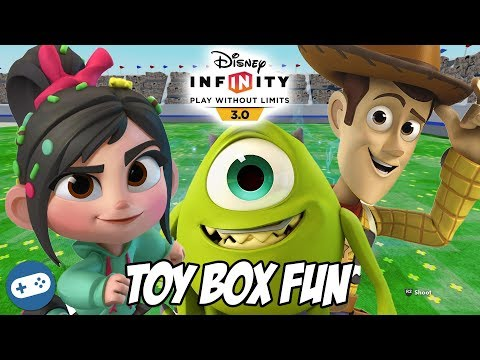 Vanellope Mike and Woody Disney Infinity 3.0 Toy Box Fun Gameplay