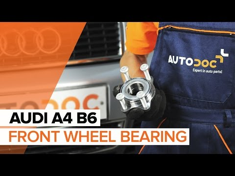 How to replace front wheel bearing on AUDI A4 B6 TUTORIAL | AUTODOC