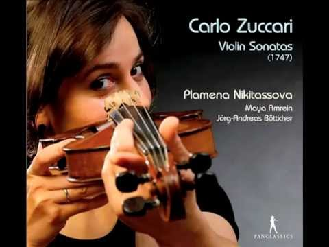 Carlo Zuccari B-Dur Violinsonata P. Nikitassova J.A. Bötticher M. Amrein