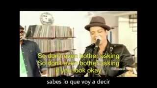 Gambar cover BRUNO MARS Just The Way You Are lyrics english/español letra subtitulada karaoke
