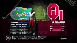 NCAA 10 Demo - Intro & 1st Quarter (HD)