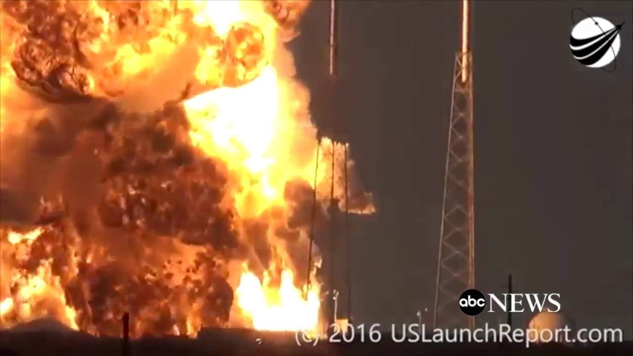 ᴴᴰ worst launch failure september 1 2016 spacex static fire anomaly amos 6 youtube