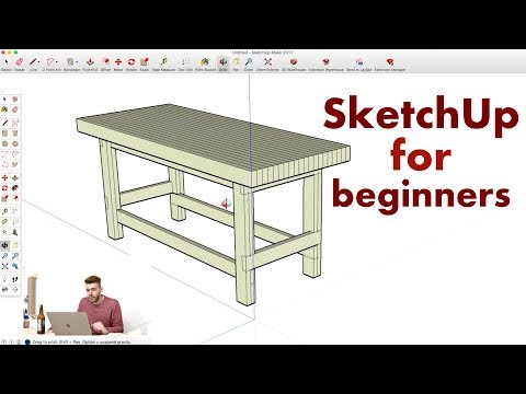How to Model a Workbench in Sketchup // Woodworking
