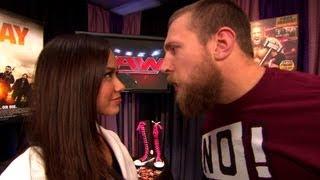 Raw GM AJ Lee announces Daniel Bryan vs. Kane at SummerSlam: Raw, August 6, 2012