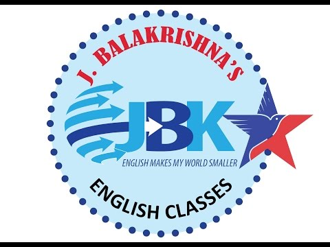 J. BALAKRISHNA'S ENGLISH CLASSES- Smt. Usha Rani, IAS  Complementing  J.Balakrishna