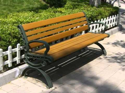making wood plastic garden bench l shaped youtube. Black Bedroom Furniture Sets. Home Design Ideas