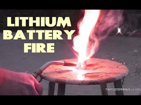 Lithium Battery Fire - slow motion study