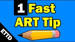 1 Fast Art Tip - Easy Things to Draw