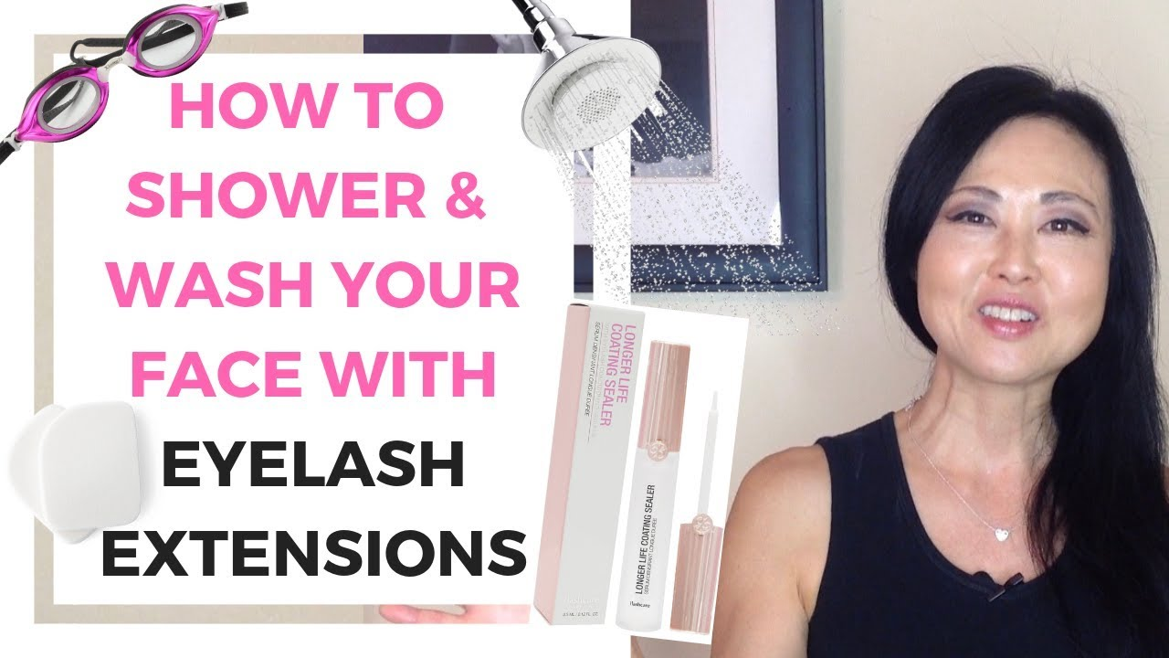 How to Wash your Face with eyelash extensions - YouTube