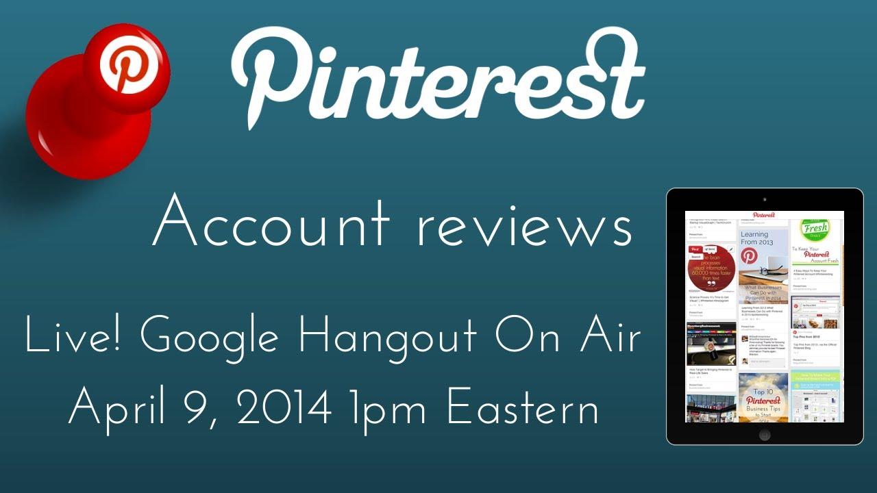 Pinterest Account Reviews