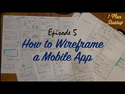 (Ep 5) How To Wireframe A Mobile App