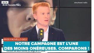 NOTRE CAMPAGNE EST L'UNE DES MOINS ONÉREUSES. COMPARONS !  – Adrien Quatennens