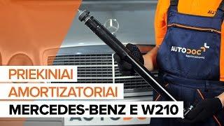 Montavimo priekyje Amortizatorius MERCEDES-BENZ E-CLASS (W210): nemokamas video