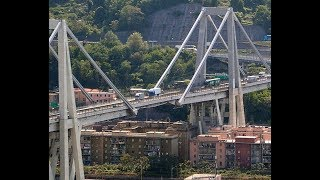 Genoa, Genova, beautiful city in Italy, Liguria, Italian Riviera,  Ponte Morandi,
