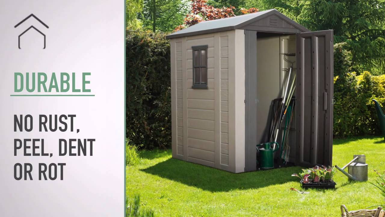 factor 4x6 plastic sheds keter youtube