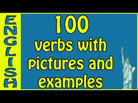 English vocab English verbs with examples and pictures - sentences verbs english  الأفعال الإنجليزية
