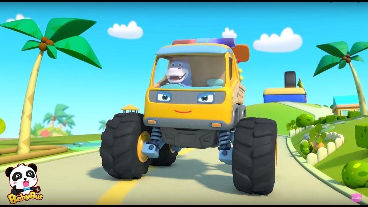 Monster Truck Patrol  | Baby Panda  Car Guardians | BabyBus
