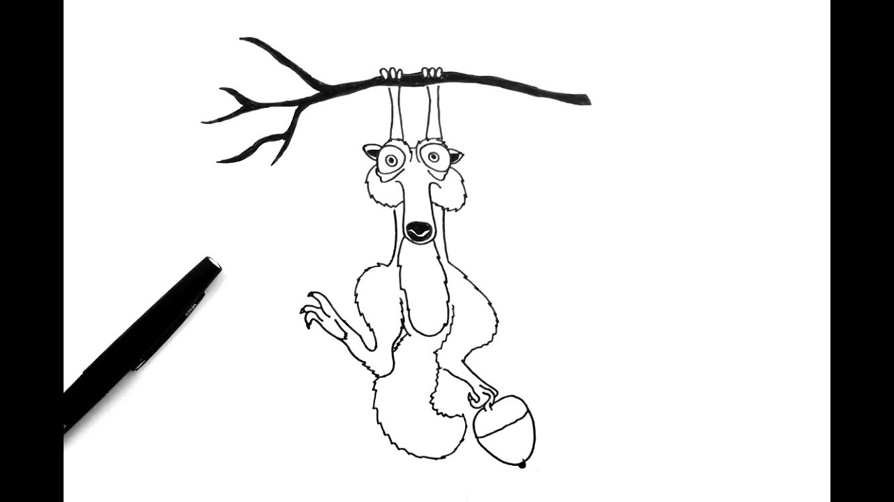 Comment Dessiner Scrat De Lage De Glace