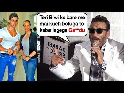 Jacky Shroff ANGRY On Reporter Asking About His Relationship With Wife Ayesha Shroff & Sahil Khan