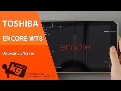 [EN] Toshiba Encore WT8 Unboxing