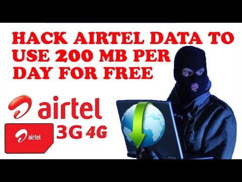 How to hack airtel data to use per day 200 MB for Lifetime free! (hindi)