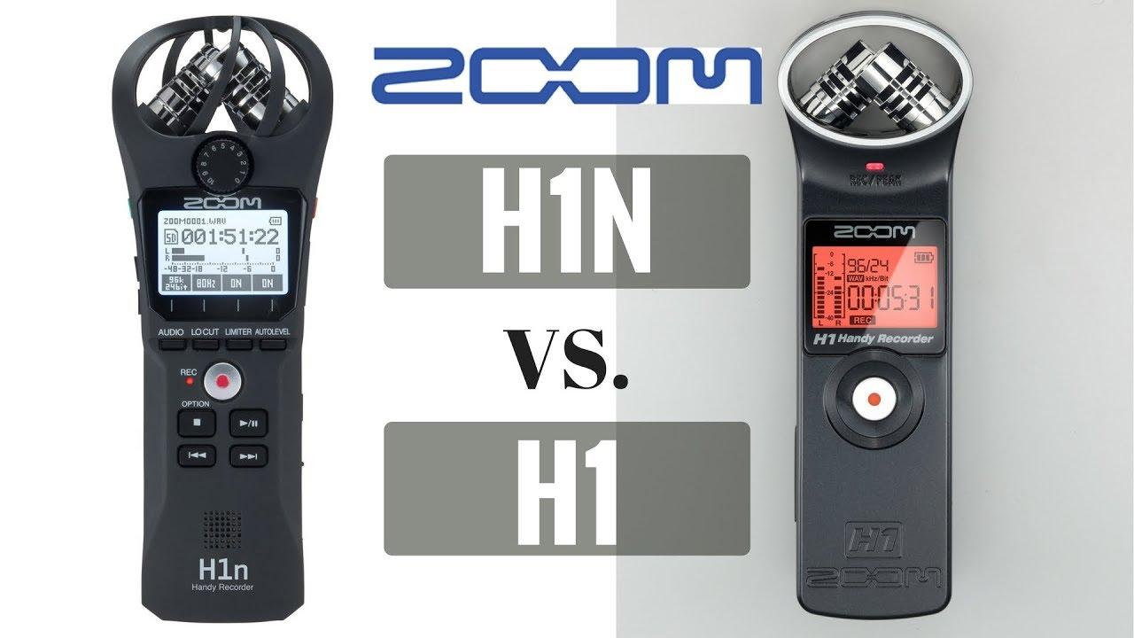 Zoom H1n Vs Zoom H1 Audio Recorder Comparison Youtube