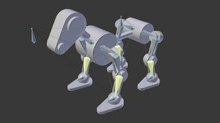 Анимация робота-собаки (часть №2)