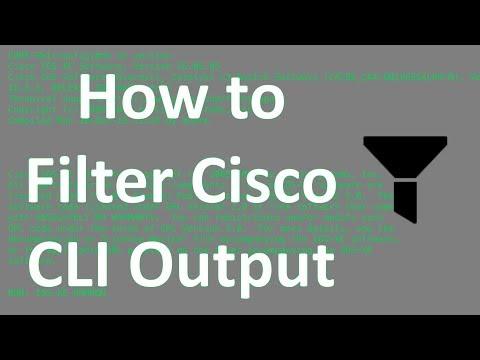 How To Filter Cisco CLI Output