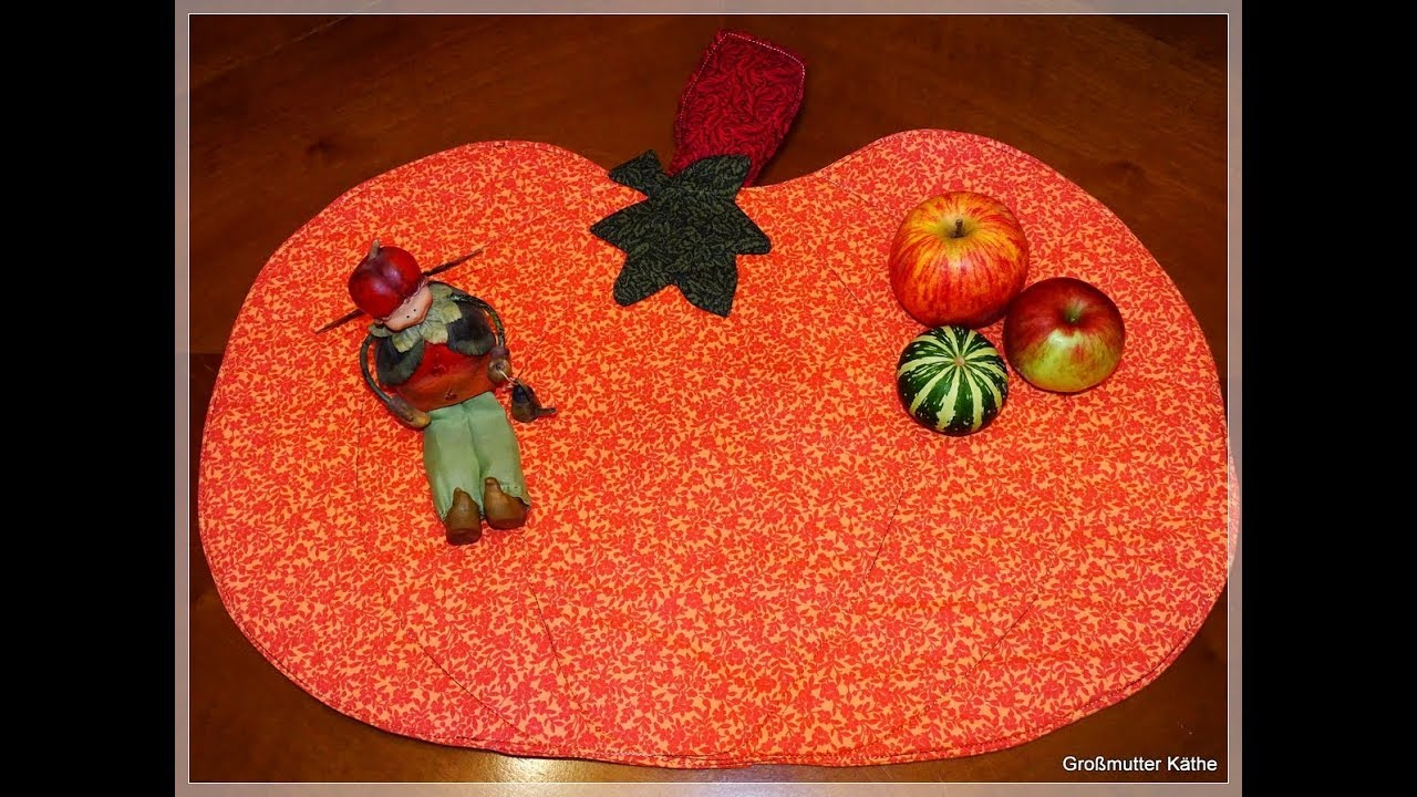 Käthes Nähstunde : DIY Kürbis Tischset / pumpkin placemat Herbstdeko ...