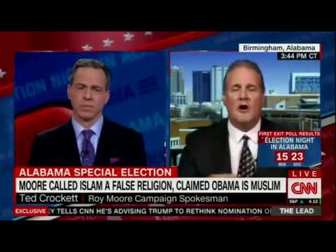 Jake Tapper's bizarre interview with Roy Moore Spokesman Ted Crockett