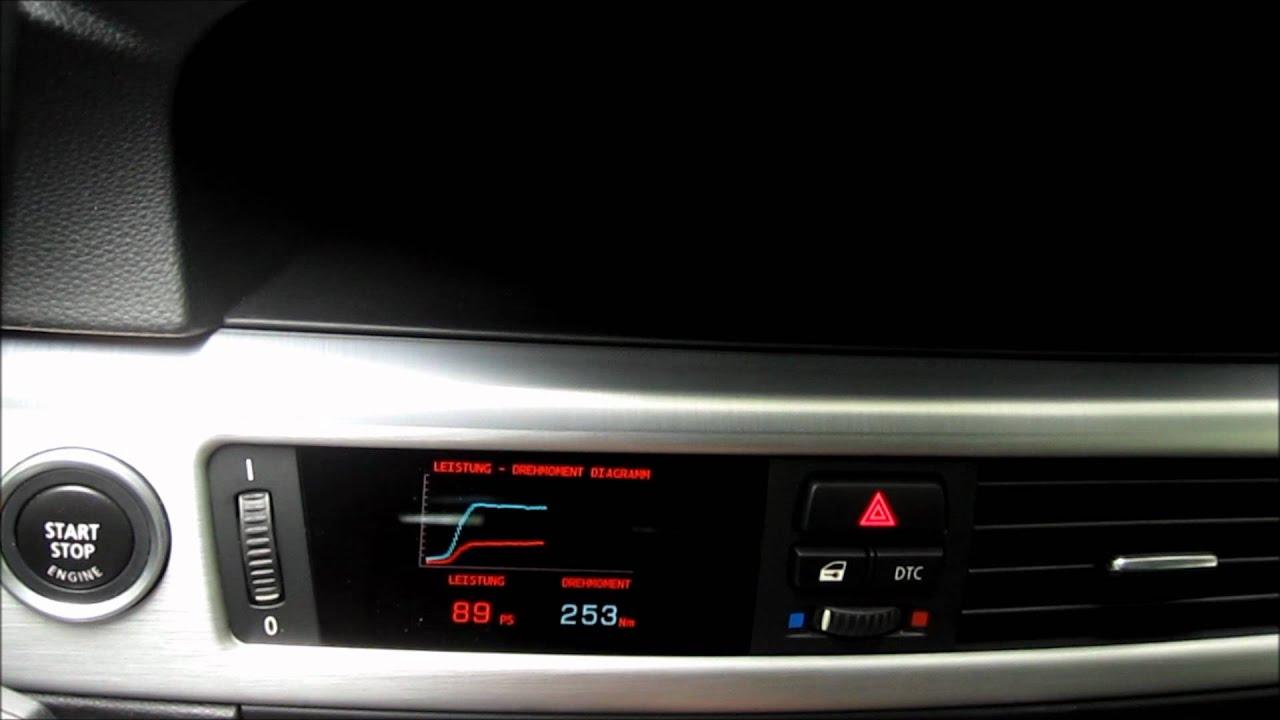 Datendisplay Bmw E90 214 Ltemperatur Ladedruck Leistung