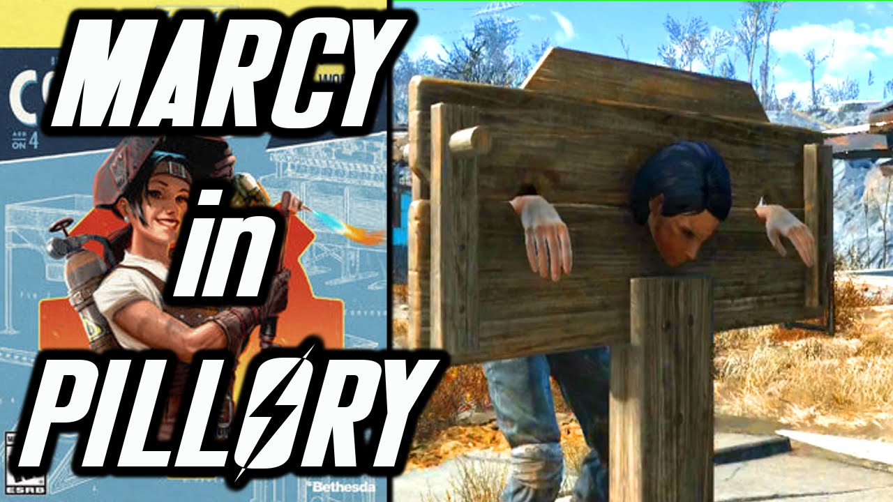 Fallout 4 Contraptions DLC - Marcy in Pillory - Kinky