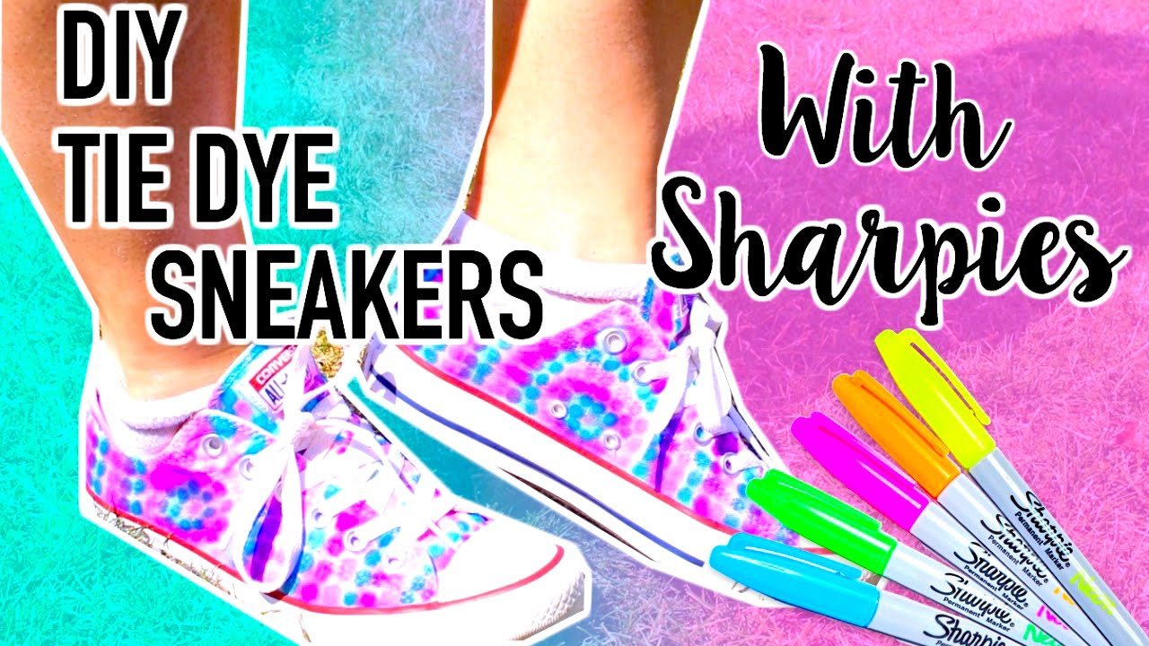 058898d5baf0 DIY Tie Dye Shoes with Sharpies!! - YouTube