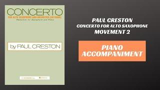 Paul Creston – Concerto for Alto Saxophone, mvt  II (Piano Accompaniment)