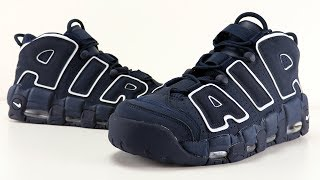 NIKE AIR MORE UPTEMPO OBSIDIAN REVIEW + ON FEET