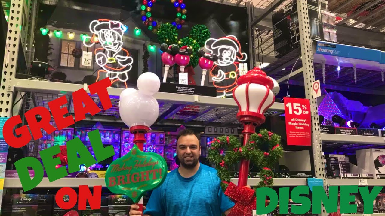 DISNEY CHRISTMAS DECORATIONS AT LOWE'S! - YouTube