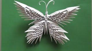 БАБОЧКА ИЗ МОДУЛЕЙ. Модульное оригами своими руками. Видео